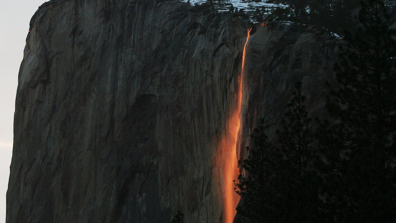 Horsetail Falls, Yosemite Valley, Central California